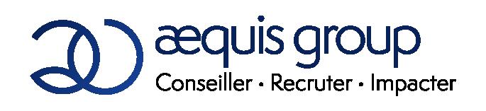 logo long aequis noir & bleu